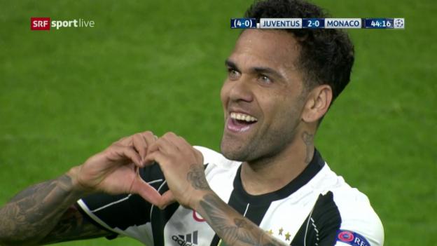 Video «Traumtor! Alves trifft herrlich per Direktabnahme» abspielen