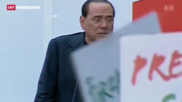 Video «Zahlreiche Unterstützer für Berlusconi» abspielen