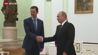 Video «Überraschendes Treffen von Assad und Putin» abspielen