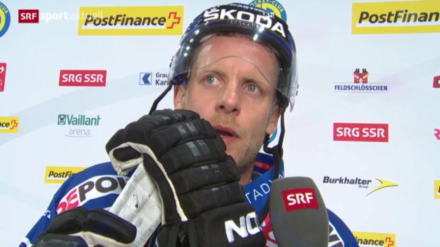 Video «Eishockey: Reto von Arx erreicht 1000-er Marke» abspielen