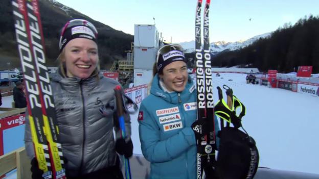 Video «Fähndrich und van der Graaff strahlen um die Wette» abspielen
