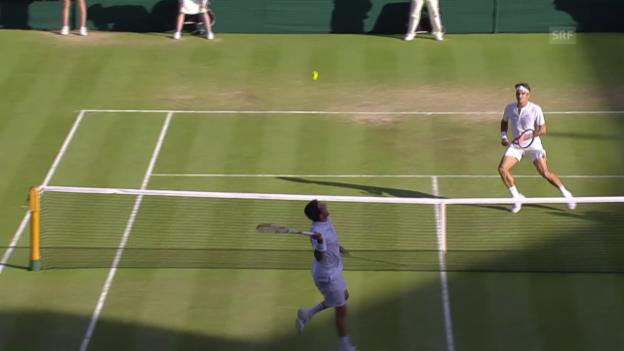Video «Tennis: Wimbledon, Federer - Bautista Agut, Big Points» abspielen