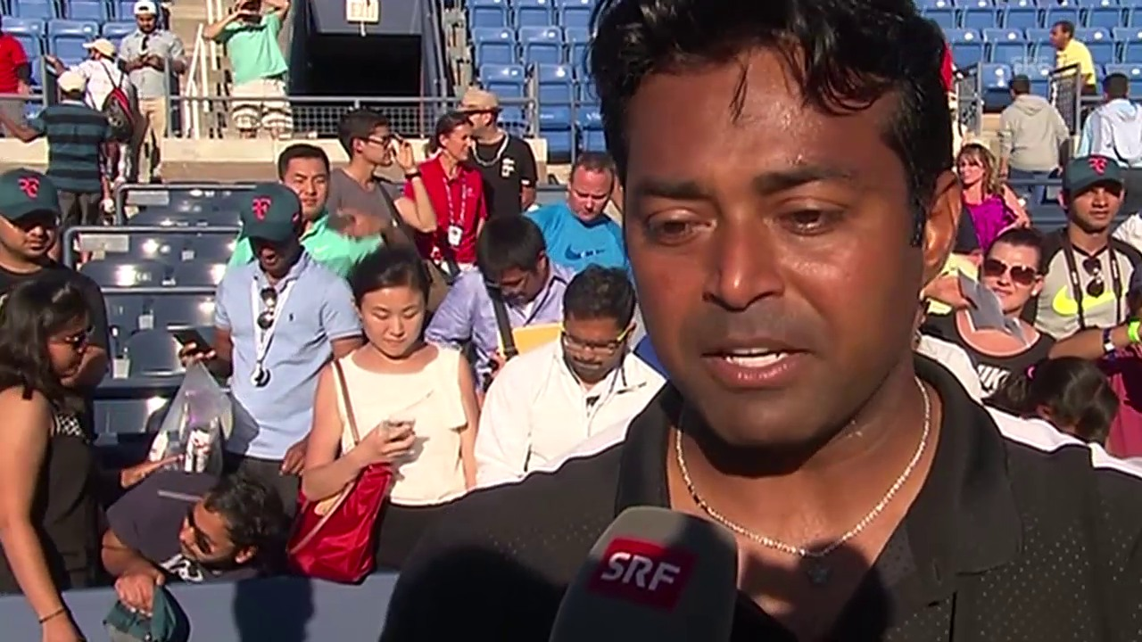 Tennis: US Open, Mixed-Doppel, Interview Paes