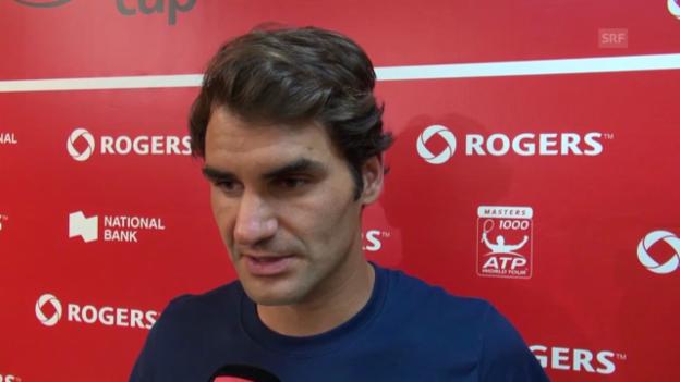 Video «Tennis: Federer zu Viertelfinalgegner David Ferrer» abspielen