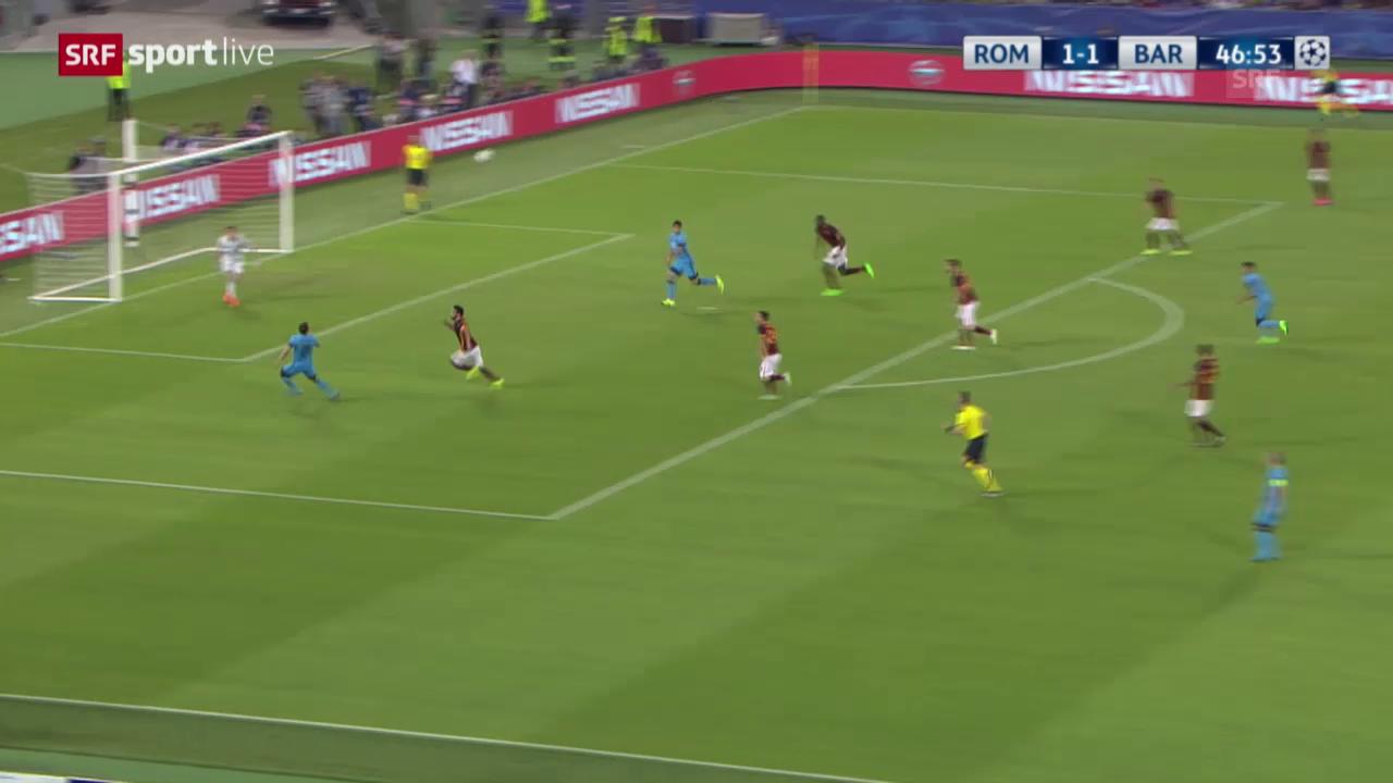 Fussball: CL, Live-Highlights Roma - Barcelona