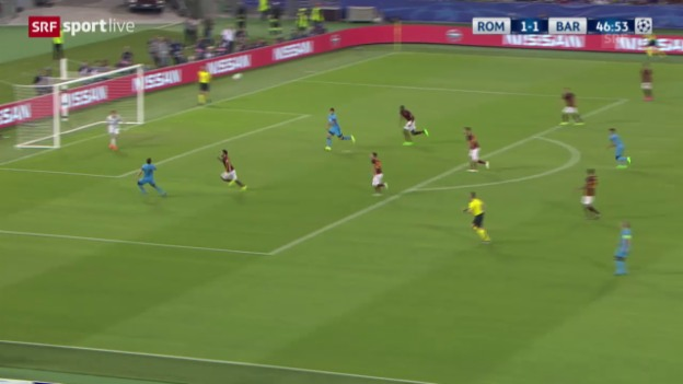 Video «Fussball: CL, Live-Highlights Roma - Barcelona» abspielen