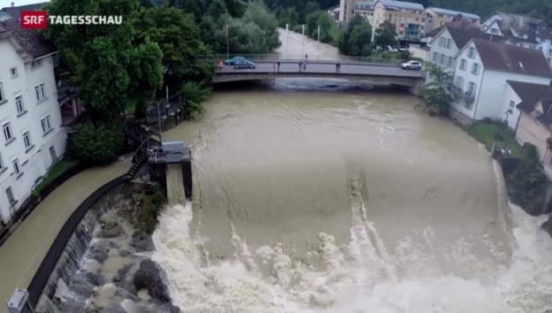 Video «Hochwasser in der Schweiz» abspielen