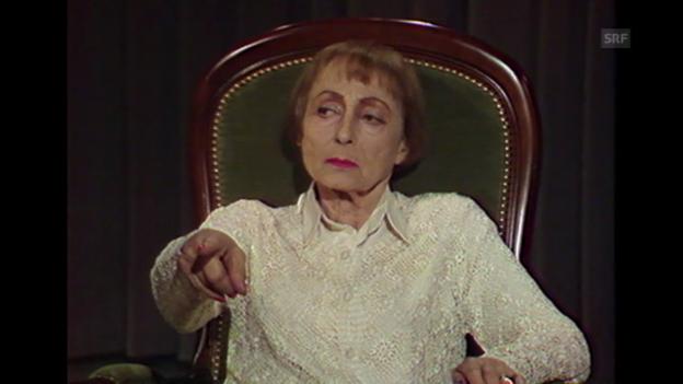 Video «Warum sie Hollywood den Rücken kehrte (aus: Begegnungen, 28.6.1987)» abspielen