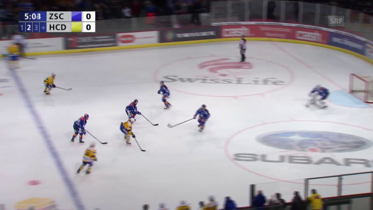 Eishockey: 3. Playoff-Final 2015, ZSC - HCD, 0:1 Ambühl