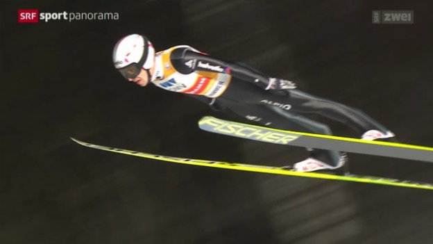 Video «Skispringen: Weltcup in Lillehammer, Grossschanze» abspielen