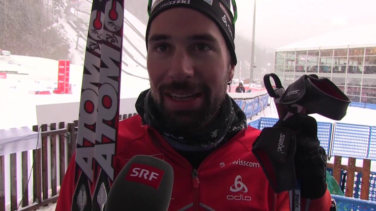 Biathlon: 10 km Ruhpolding, Interview Weger