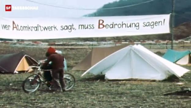 Video «Ostern 1975: Besetzung des AKW-Baugeländes in Kaiseraugst. («Bericht vor acht» 27.1.1977)» abspielen