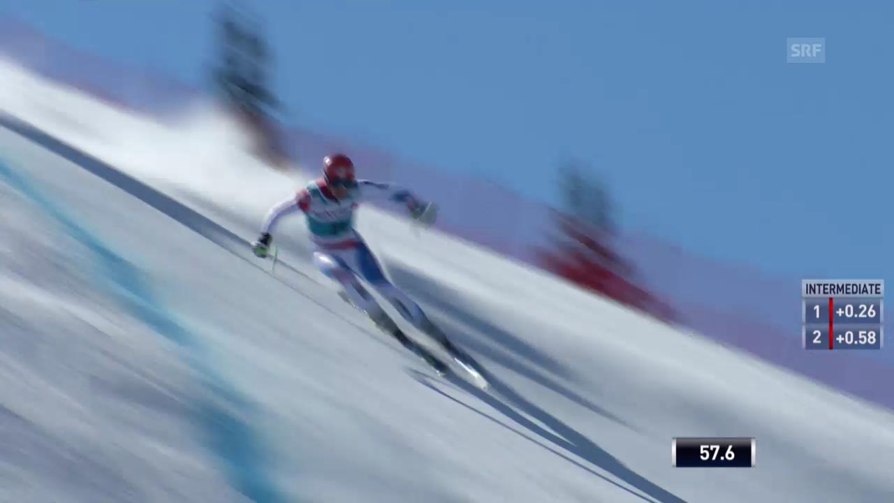 Ski: Weltcup der Männer, Abfahrt auf der Lenzerheide, Die Fahrt von Patrick Küng(12.03.2014)