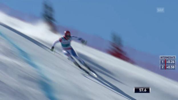 Video «Ski: Weltcup der Männer, Abfahrt auf der Lenzerheide, Die Fahrt von Patrick Küng(12.03.2014)» abspielen