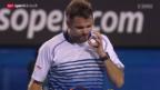 Video «Tennis: Melbourne-Halbfinal Wawrinka - Djokovic» abspielen