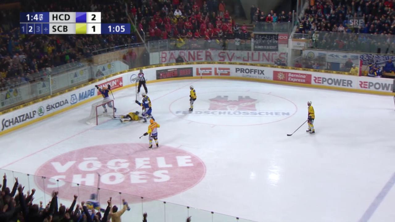 Eishockey: Playoffs, 4. Halbfinal, HC Davos – SC Bern, 3:1 Marcus Paulsson