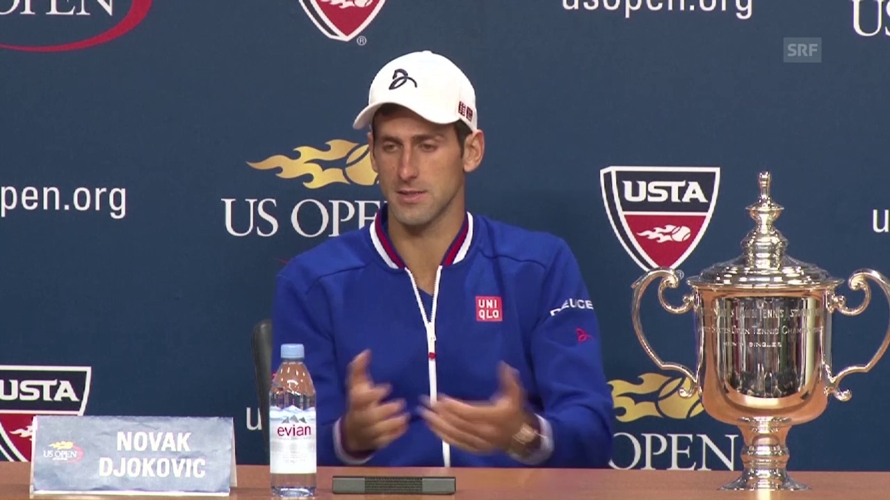Tennis: US Open 2015, Männer-Final, Novak Djokovic an der Pressekonferenz