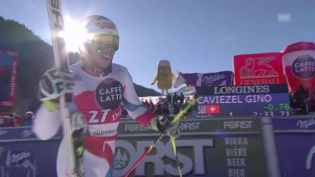 Video «Ski Alpin: Weltcup, Riesenslalom Alta Badia, 2. Lauf Gino Caviezel» abspielen