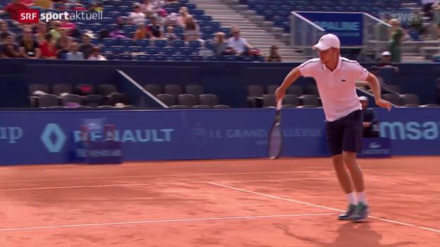 Video «Tennis: Goffin in Gstaad mit souveränem Sieg» abspielen