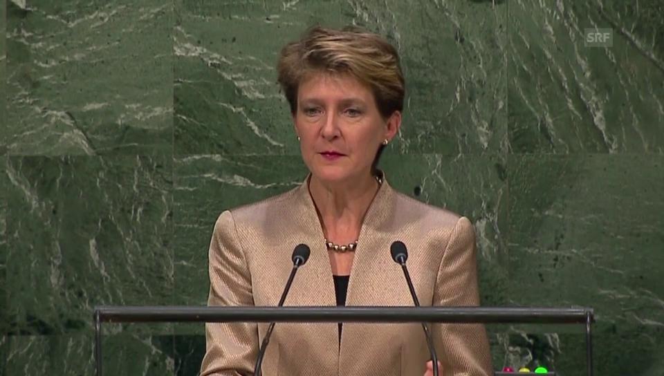 Die UNO-Rede von Bundespräsidentin Sommaruga in voller Länge (frz.)