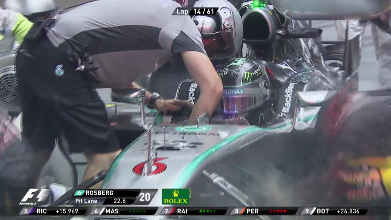 Formel 1: GP Singapur, Out Nico Rosberg