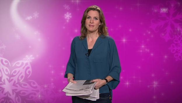 Video «8. Dezember: Cornelia Boesch bringt Ordnung in Ihren Blätterwald» abspielen