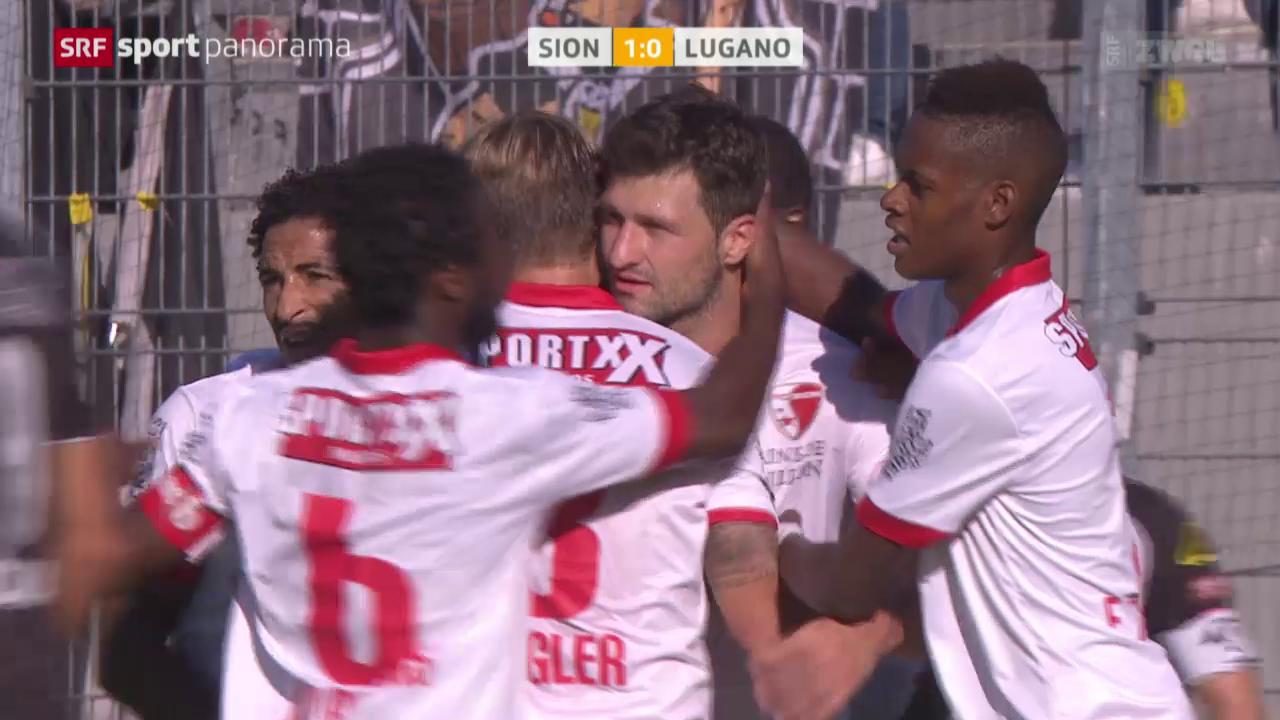 Fussball: Super League, Sion - Lugano