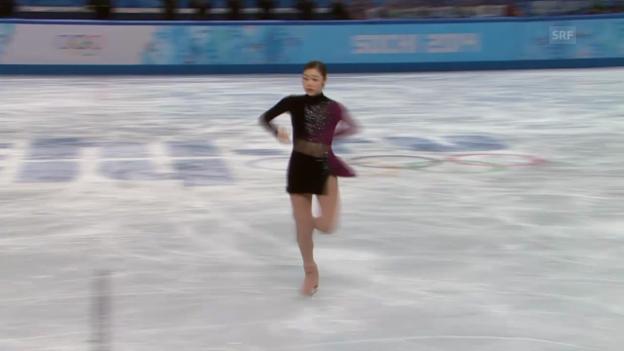 Video «Eiskunstlaufen: Die Kür von Yu-Na Kim (sotschi direkt,20.02.2014)» abspielen