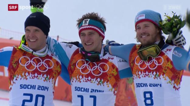 Video «Ski alpin: Abfahrt der Männer» abspielen