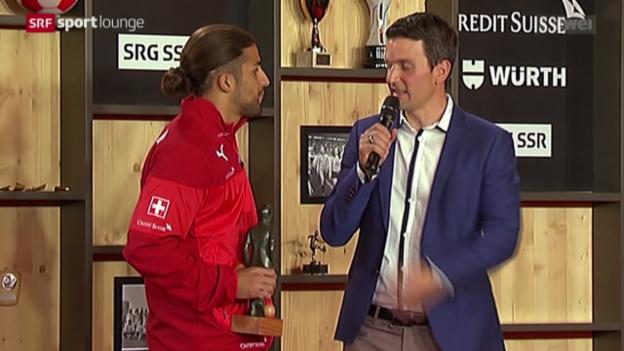 Video «Auszeichnungen für Rodriguez, Dickenmann und Hitzfeld» abspielen