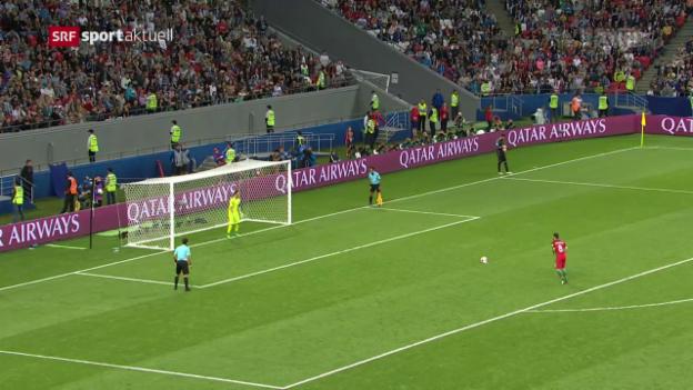 Video «Chile eliminiert Portugal dank Penaltyheld Bravo» abspielen