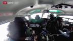 Video «Ski alpin: Kameramann Samy Giger und sein russischer Helipilot» abspielen