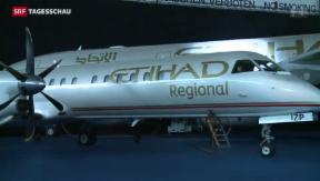 Video «Arabische Airline Etihad eröffnet Hub in Zürich» abspielen