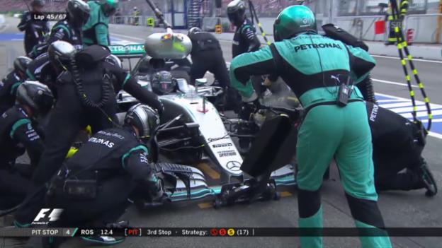Video «So lange dauern 5 Sekunden beim Mercedes-Rennstall» abspielen