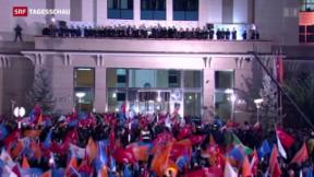 Video «Erdogans AKP mit absoluter Mehrheit» abspielen