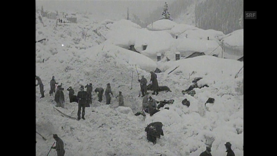 Lawinenniedergang in Airolo 1951