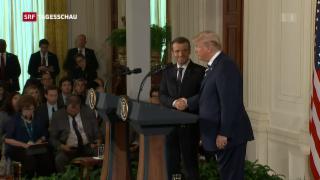 Video «Sympathietreffen Trump-Macron» abspielen