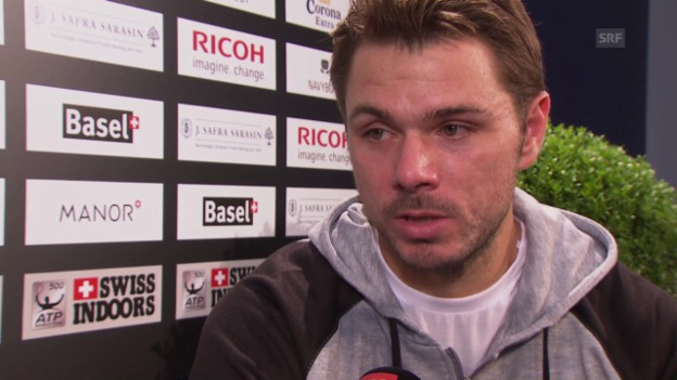 Video «Tennis: ATP Basel, Interview Wawrinka» abspielen