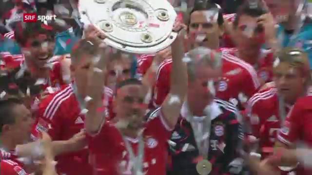 Fussball: Bayern feiern den Titel