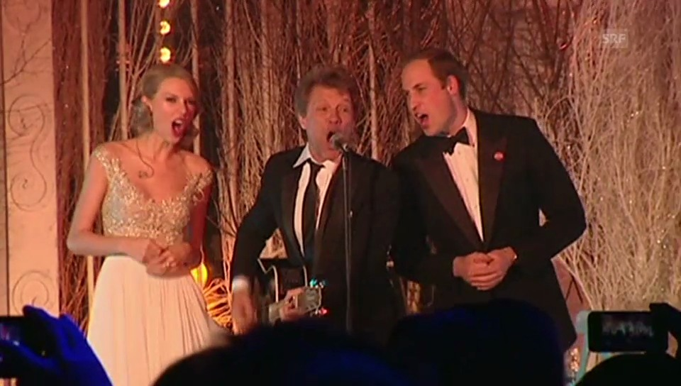 Prinz William singt mit Bon Jovi und Taylor Swift