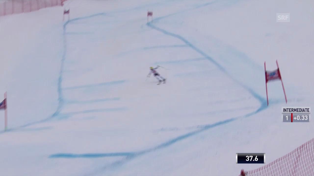 Ski: Weltcup, Abfahrt Crans-Montana, Fahrt von Fischbacher