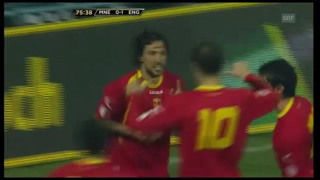 Video «WM-Qualifikation: Montenegro - England» abspielen