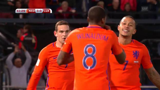 Video «Die Tore bei Niederlande - Luxemburg» abspielen