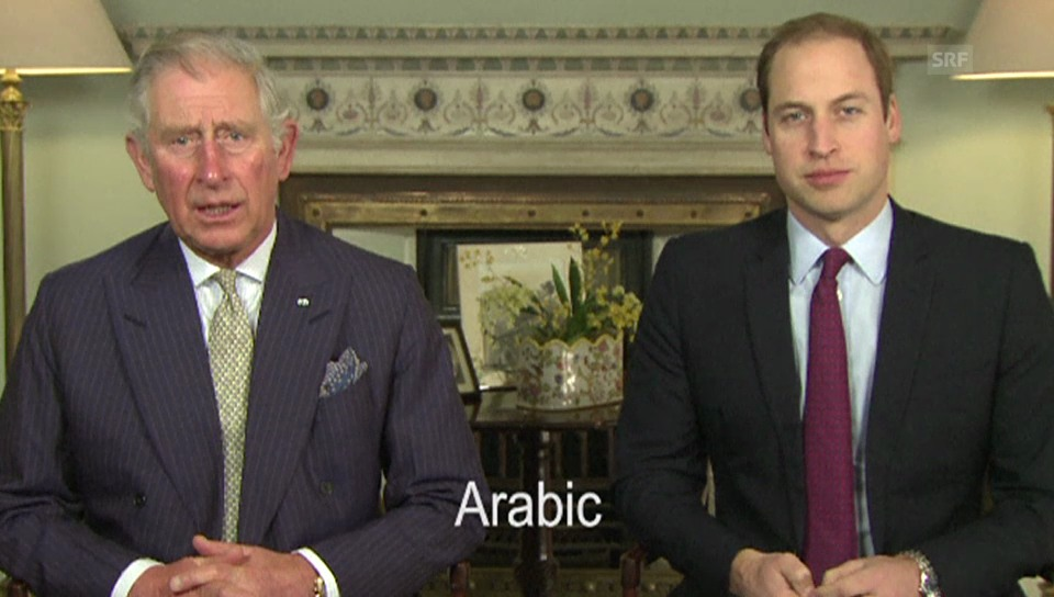 Prinz Charles' und Prinz Williams mehrsprachiger Appell