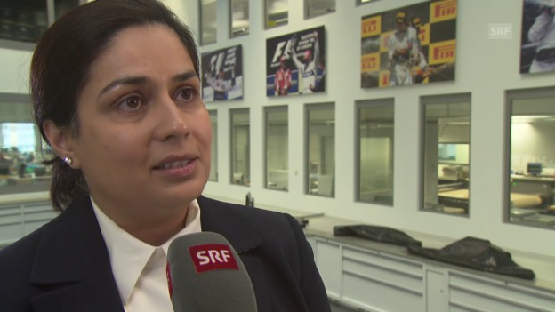 Video «Formel 1: Interview mit Monisha Kaltenborn zum neuen Sauber C34» abspielen