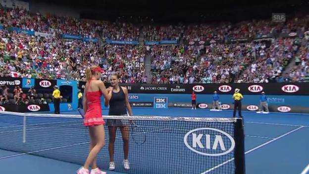 Video «Tennis: Australian Open, Matchball Scharapowa - Panowa» abspielen