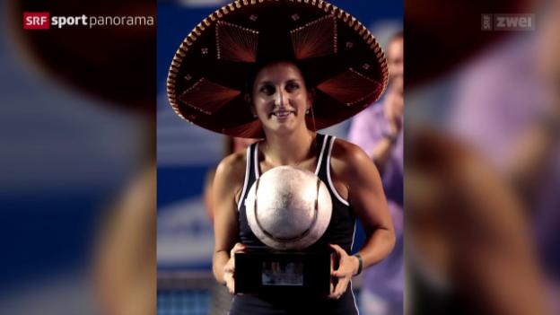 Video «Tennis: WTA Acapulco, Bacsinszky Sieg» abspielen