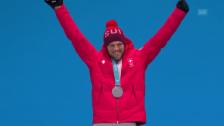 Link öffnet eine Lightbox. Video Bischofberger feiert seine Silbermedaille abspielen