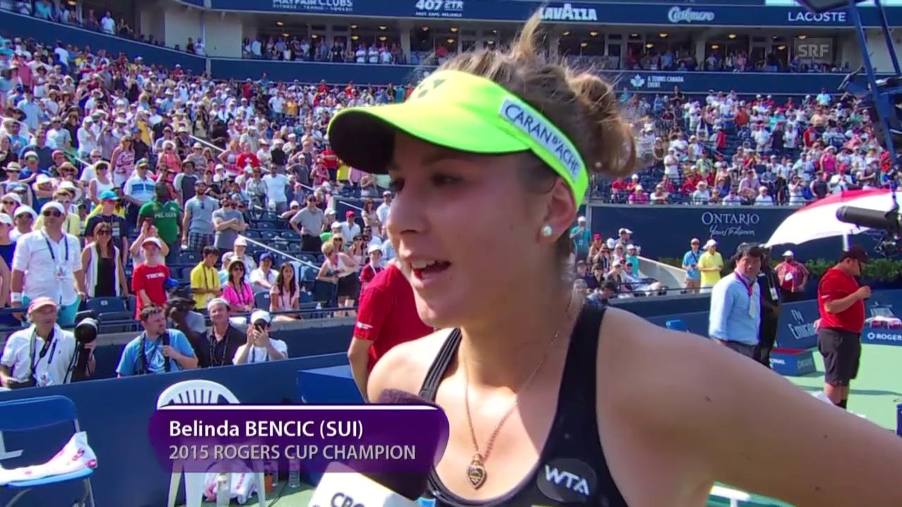 Tennis: WTA Toronto, Platz-Interview Bencic