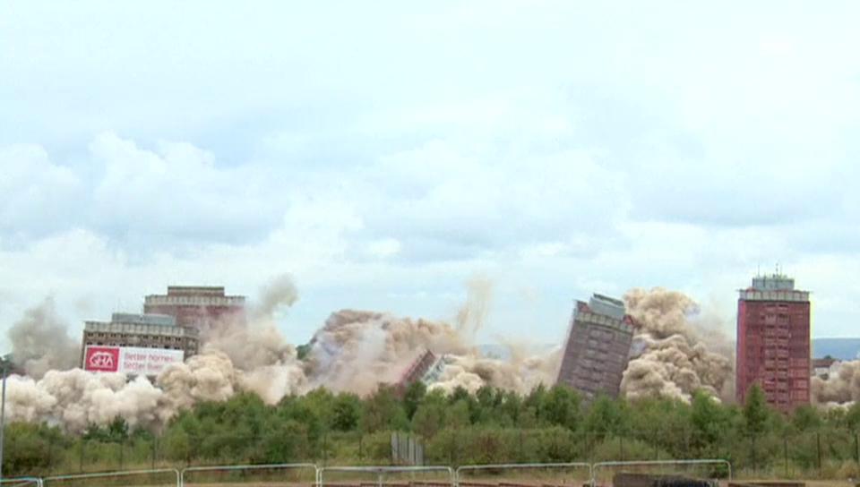 Hochhaus-Sprengung in Glasgow